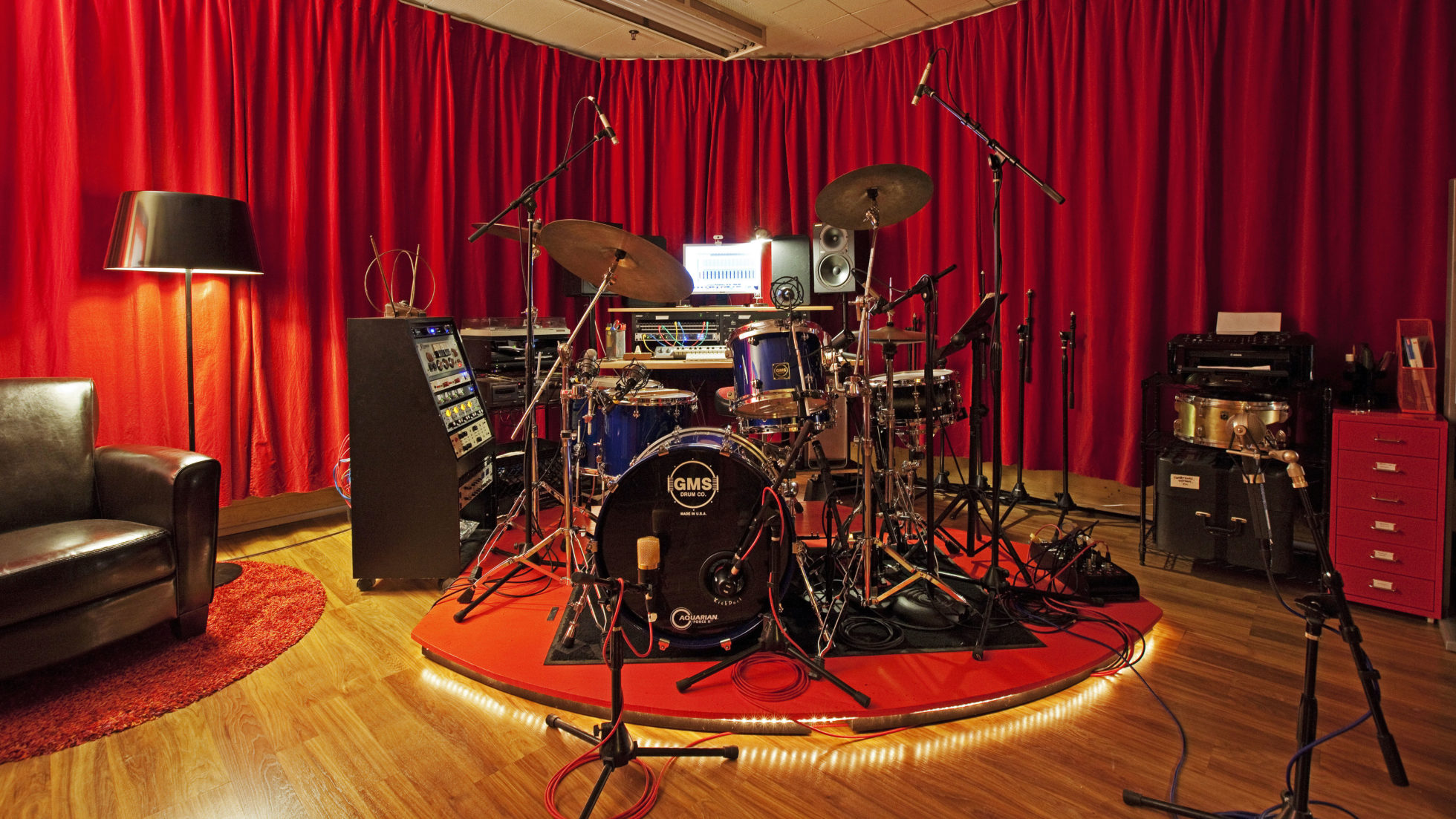 tracking session drums
